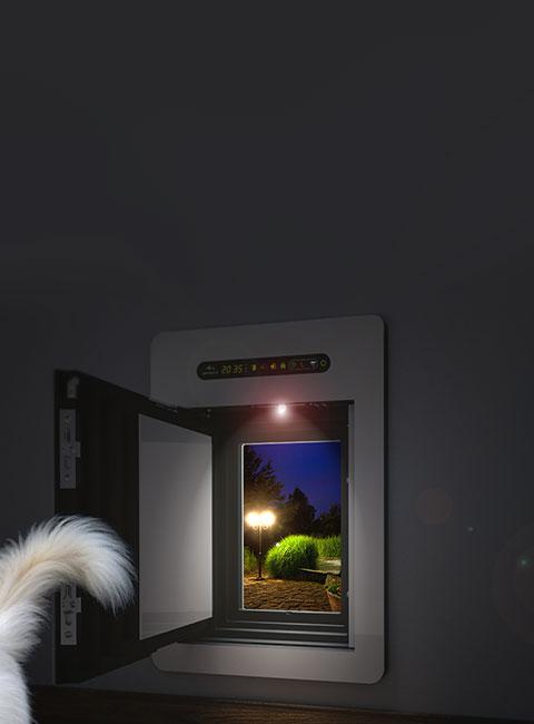 Die petWALK Hundetüre als isolierter, gedämmter und sicherer Ersatz für Hundeklappen.
